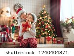 merry christmas and happy... | Shutterstock . vector #1240404871