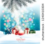 christmas holiday background... | Shutterstock .eps vector #1240410304