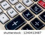 top view of a calculator...   Shutterstock . vector #1240413487