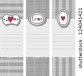 set of three long valentines... | Shutterstock .eps vector #124041421