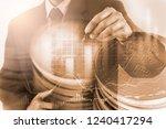 modern way of exchange. bitcoin ... | Shutterstock . vector #1240417294