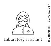 laboratory assistant icon.... | Shutterstock .eps vector #1240417957