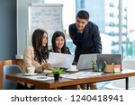 group of asian and multiethnic... | Shutterstock . vector #1240418941