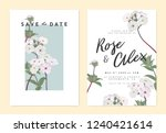 botanical wedding invitation... | Shutterstock .eps vector #1240421614
