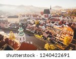 panoramic view of the historic... | Shutterstock . vector #1240422691