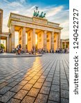famous brandenburger tor  one... | Shutterstock . vector #1240422727