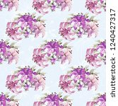 seamless floral pattern with... | Shutterstock .eps vector #1240427317