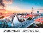 classic view of berlin skyline... | Shutterstock . vector #1240427461