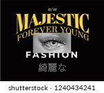 typography slogan with woman... | Shutterstock .eps vector #1240434241