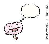 cartoon laughing brain   Shutterstock .eps vector #124043464