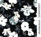 seamless floral pattern.... | Shutterstock .eps vector #1240435057