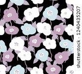 seamless cute flower vector... | Shutterstock .eps vector #1240435207