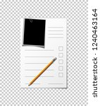 paper sheet with form  pencil... | Shutterstock .eps vector #1240463164