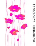 flowers poppies. vector. womens ... | Shutterstock .eps vector #1240470331
