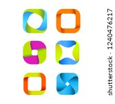 abstract creative square logo... | Shutterstock .eps vector #1240476217