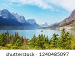 picturesque rocky peaks of the... | Shutterstock . vector #1240485097