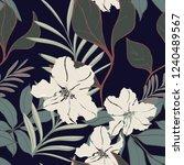beautiful seamless floral... | Shutterstock .eps vector #1240489567