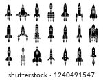 space exploration rocket... | Shutterstock .eps vector #1240491547