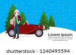 man santa claus costume with... | Shutterstock .eps vector #1240495594