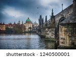 it's evening in the city of... | Shutterstock . vector #1240500001