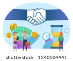 time and money in business... | Shutterstock .eps vector #1240504441