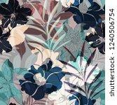 beautiful seamless floral... | Shutterstock . vector #1240506754