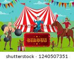 big top circus and funfair ... | Shutterstock .eps vector #1240507351