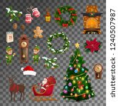 christmas and new year... | Shutterstock .eps vector #1240507987