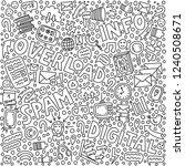 informational overload... | Shutterstock .eps vector #1240508671
