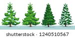christmas tree with snow.... | Shutterstock .eps vector #1240510567