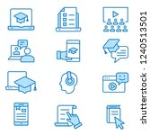 e learning distance education... | Shutterstock .eps vector #1240513501