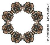 floral border design elements.... | Shutterstock .eps vector #1240520524