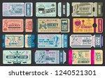 ice hockey game tickets  sport... | Shutterstock .eps vector #1240521301