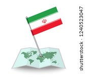 map with flag of iran isolated... | Shutterstock .eps vector #1240523047