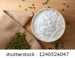 top view mung bean starch...   Shutterstock . vector #1240526047