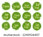 vector organic labels  natural... | Shutterstock .eps vector #1240526407