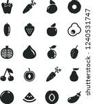 solid black vector icon set  ... | Shutterstock .eps vector #1240531747