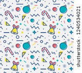 christmas seamless pattern with ... | Shutterstock .eps vector #1240534021