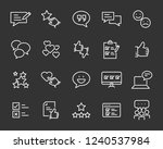 set of feedback line icons ... | Shutterstock .eps vector #1240537984
