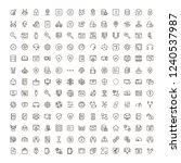 programming icon set.... | Shutterstock .eps vector #1240537987