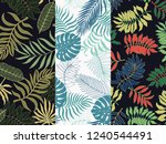 set of three of tropical... | Shutterstock .eps vector #1240544491