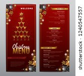 christmas menu design with...   Shutterstock .eps vector #1240547557
