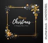 christmas poster with golden... | Shutterstock .eps vector #1240550581