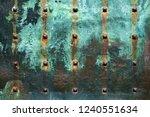 antique patina copper sheet... | Shutterstock . vector #1240551634