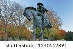 bronze cowboy pioneer plaza ... | Shutterstock . vector #1240552891