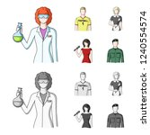 woman chemist  football player  ... | Shutterstock . vector #1240554574
