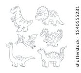 dinosaurs and prehistoric...   Shutterstock .eps vector #1240555231