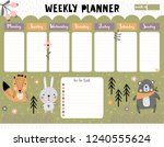 weekly planner and to do list... | Shutterstock .eps vector #1240555624