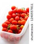 fresh organic cherry tomatoes ... | Shutterstock . vector #1240557811