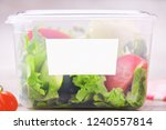 organic salad inside plastic... | Shutterstock . vector #1240557814